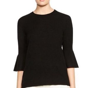 Halston Heritage Cashmere Wool Bell Sleeve Sweater